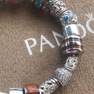 Jewelry - Koa and stainless steel barrel charm